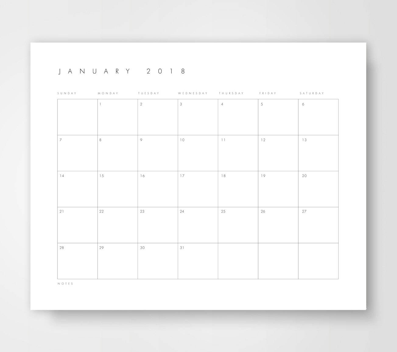 Printable Desk Calendar Printable Desk Calendar 2018 Monthly Desk Calendar