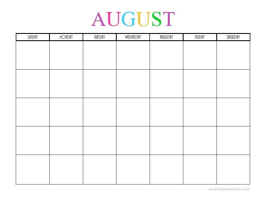 Printable Monthly Calendar 2020 Free Printable Blank Monthly Calendars – 2018 2019 2020