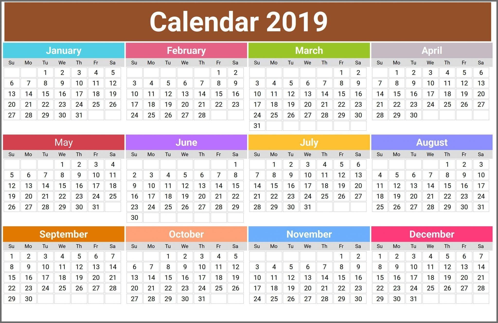 12 Month Calendar in e Page