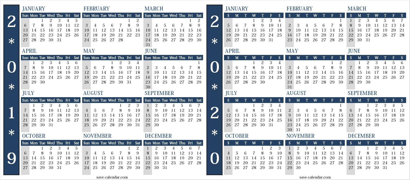 Calendar 2020 Printable Uk Calendar 2019 2020 Uk 2019 Calendar