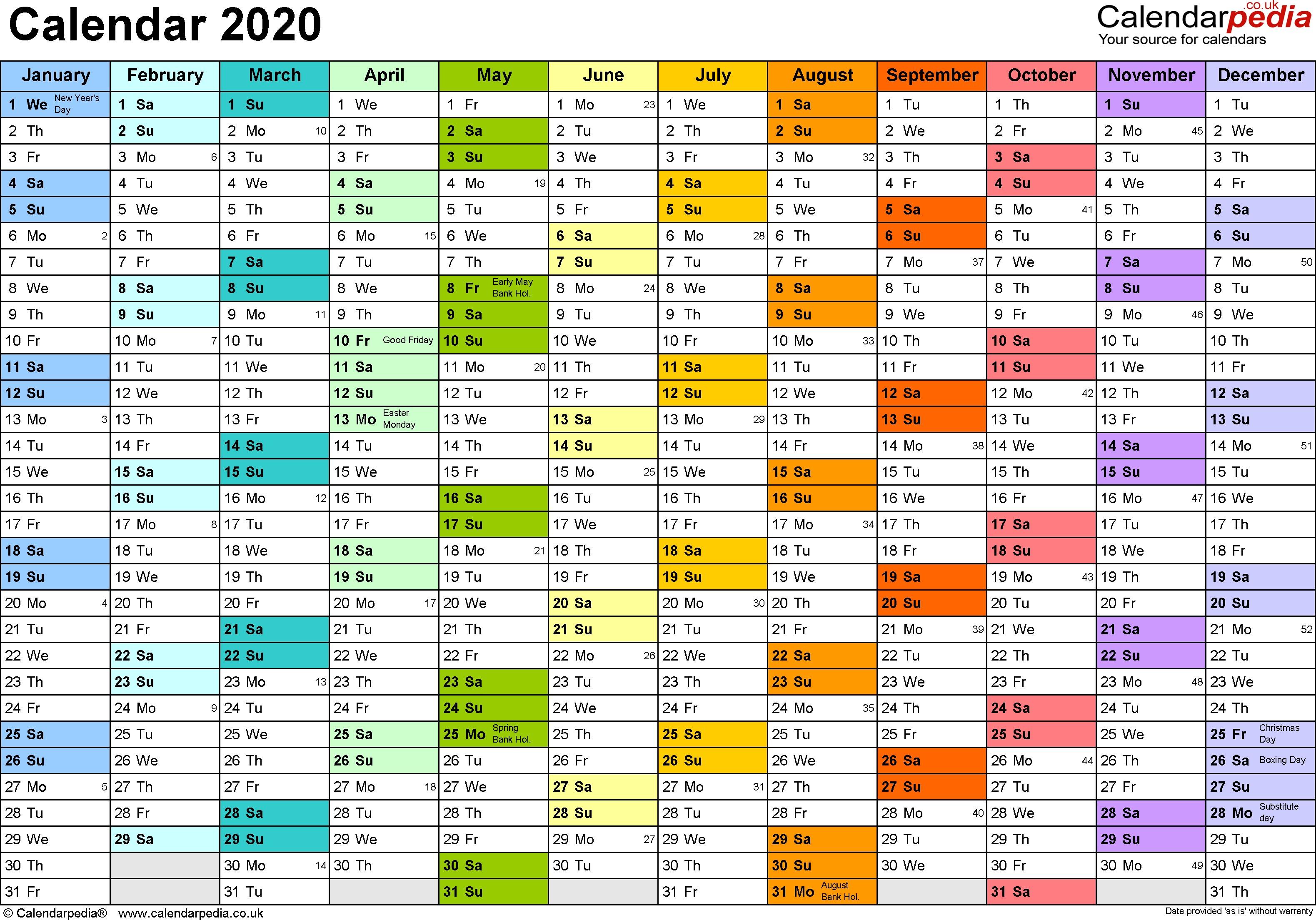 Calendar 2020 Printable Uk Calendar 2020 Uk 16 Free Printable Pdf Templates