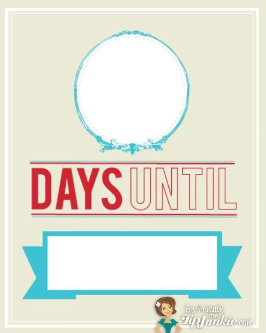 Countdown Calendar Printable Template
