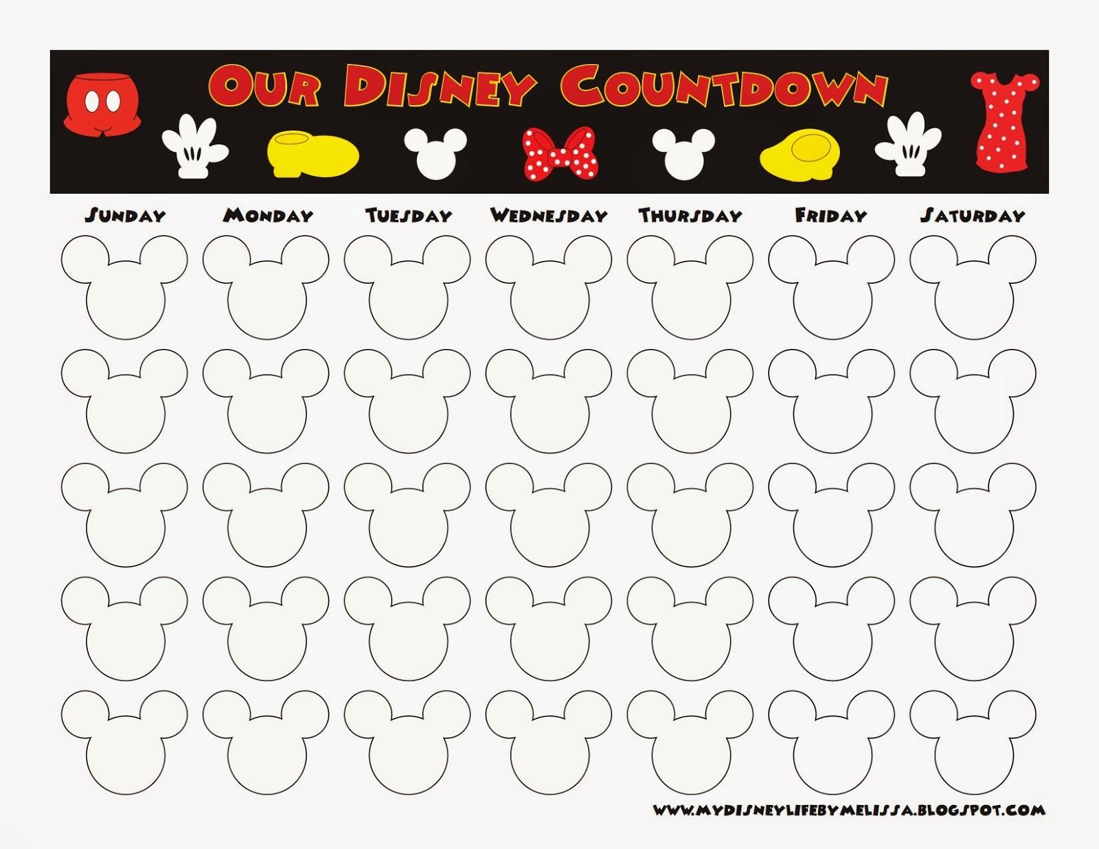 My Disney Life Countdown Calendars