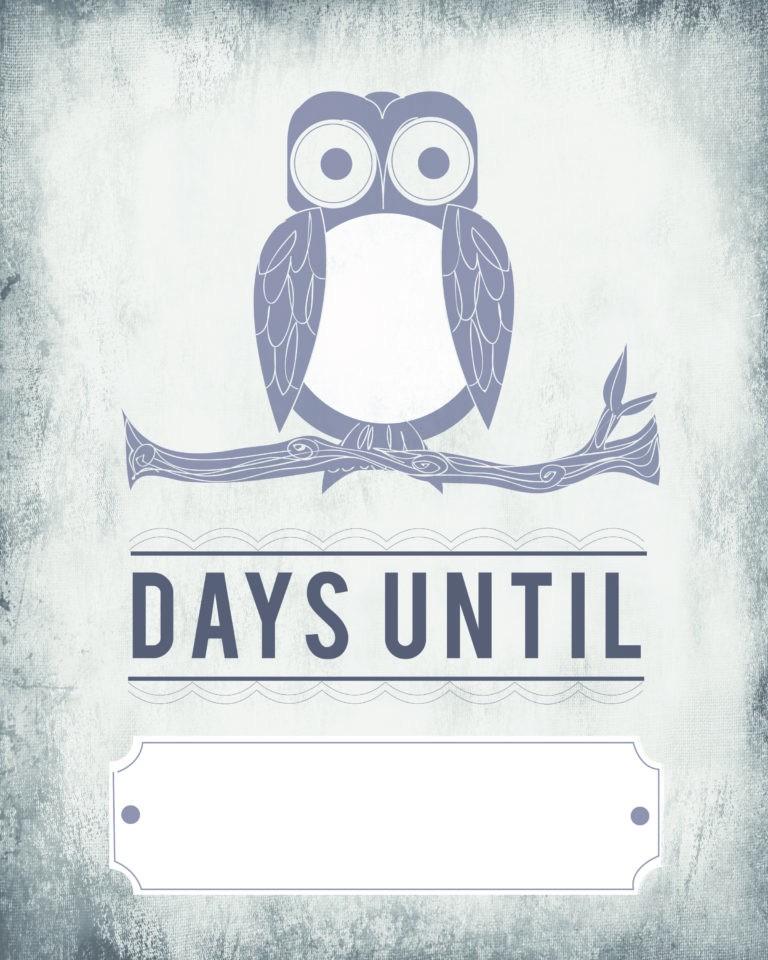 Countdown Calendar Printable Template Owl Count Down Calendar – Blank Template [printable] – Tip