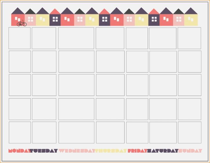 Universal Printable Countdown Calendar