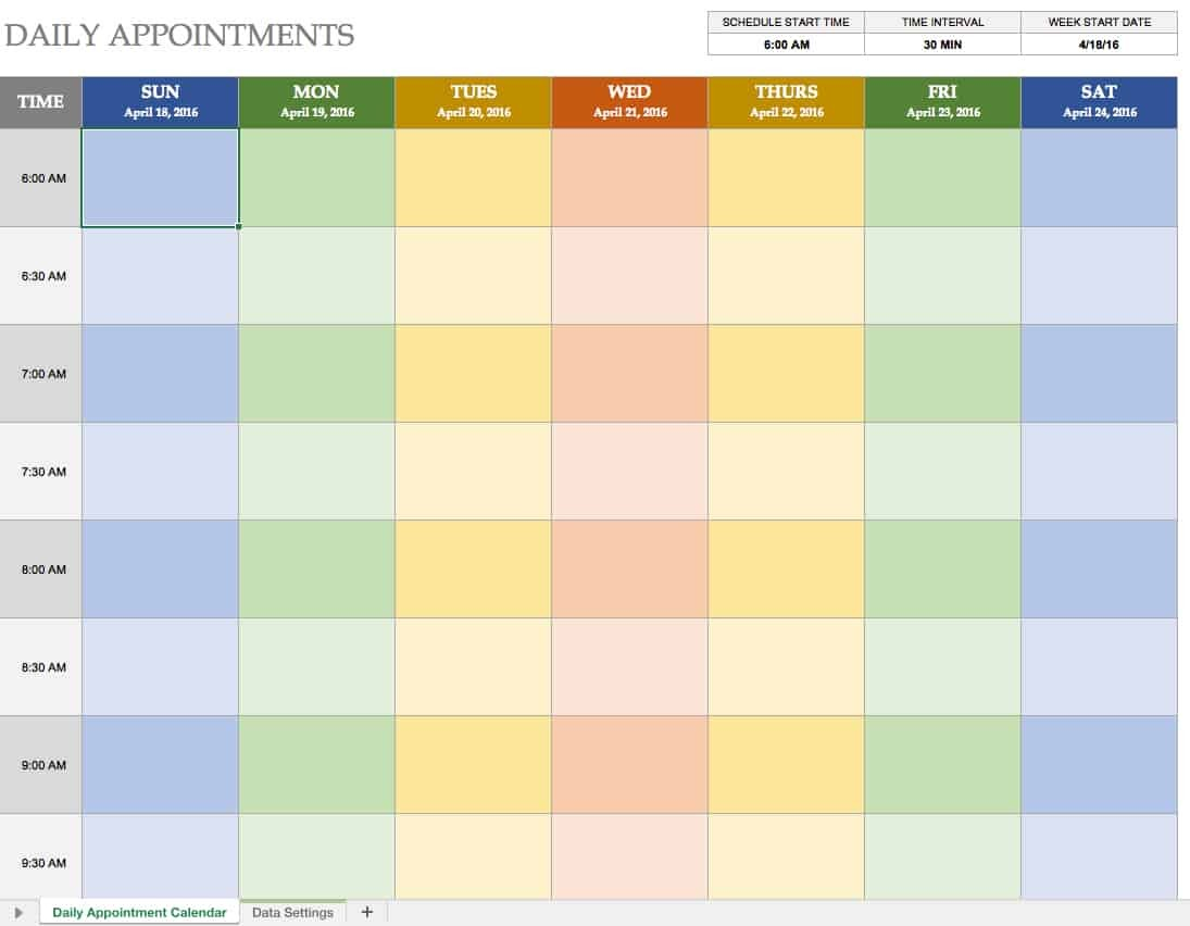 Free Printable Appointment Calendar Free Excel Calendar Templates