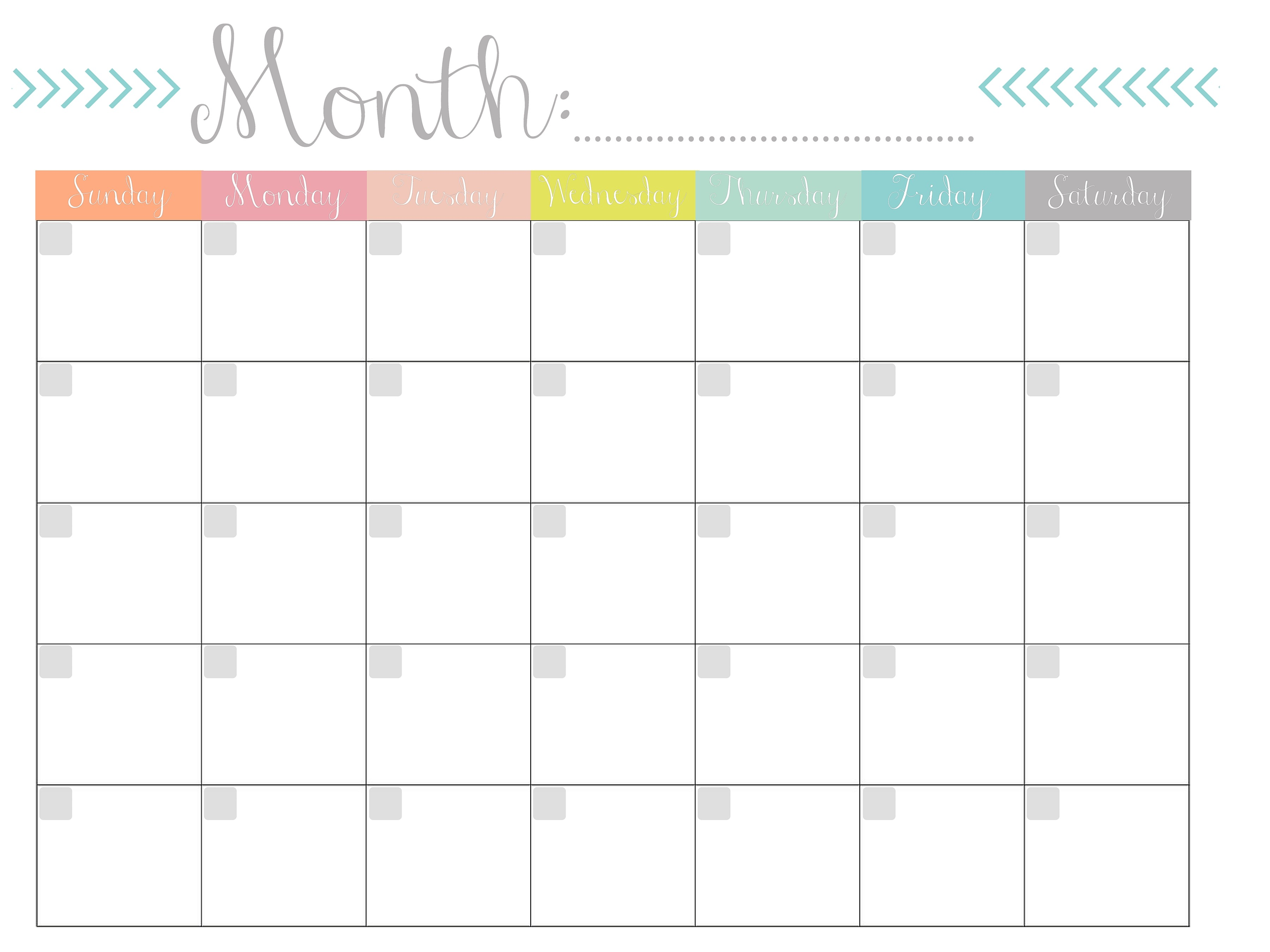 Free Printable Calendars Monthly
