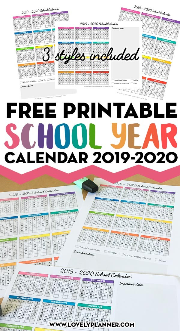 Free Printable School Calendar E Page School Calendar Free Printable for School Year