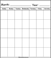 Calendar Printouts EnchantedLearning