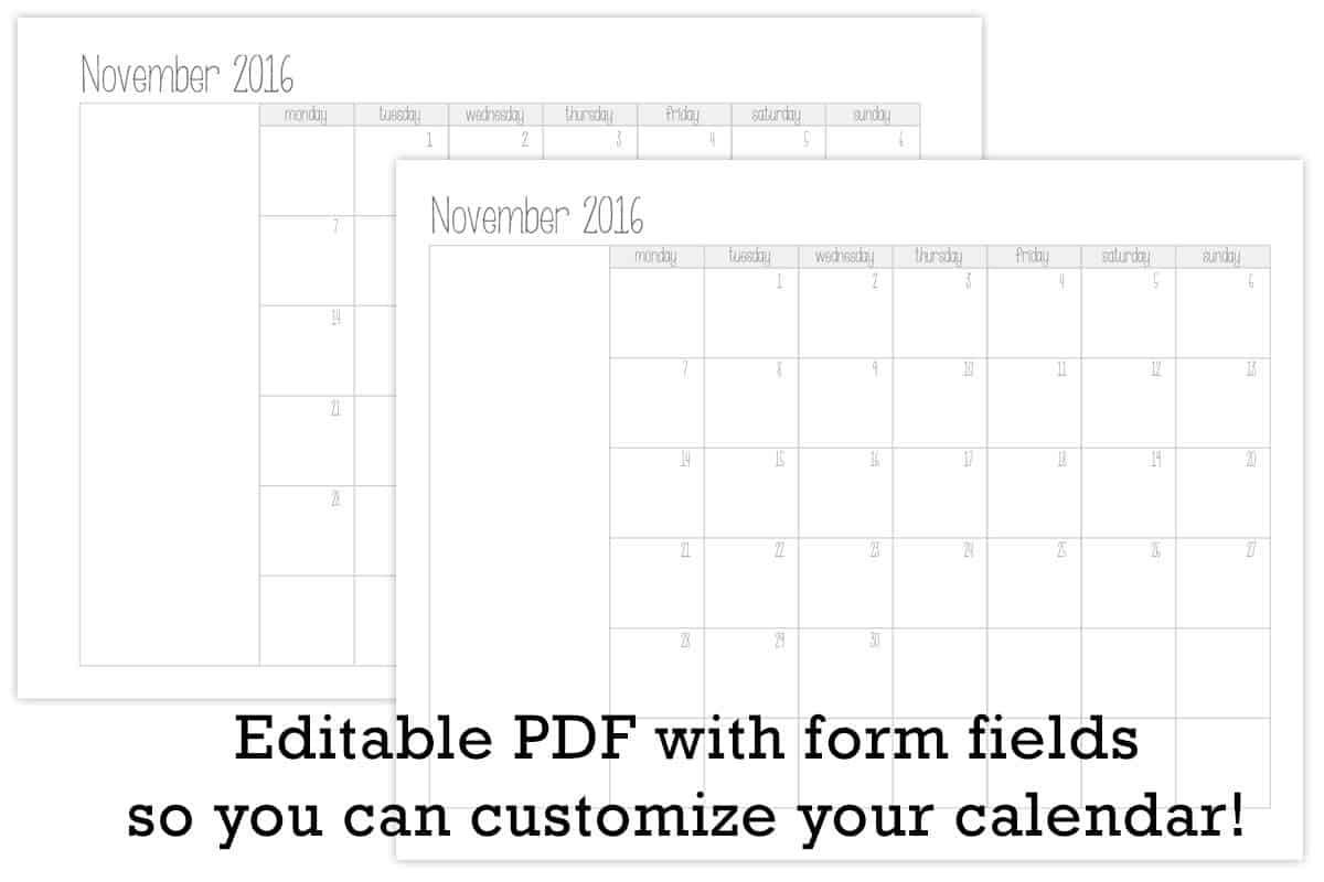 Make Your Own Printable Calendar with Photos Make Your Own Monthly Calendar Printable