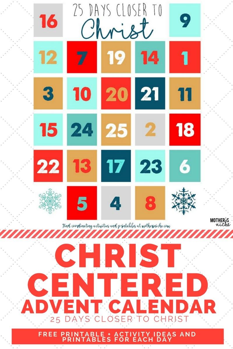 Printable Advent Calendar Light the World 25 Ways In 25 Days Advent Calendar