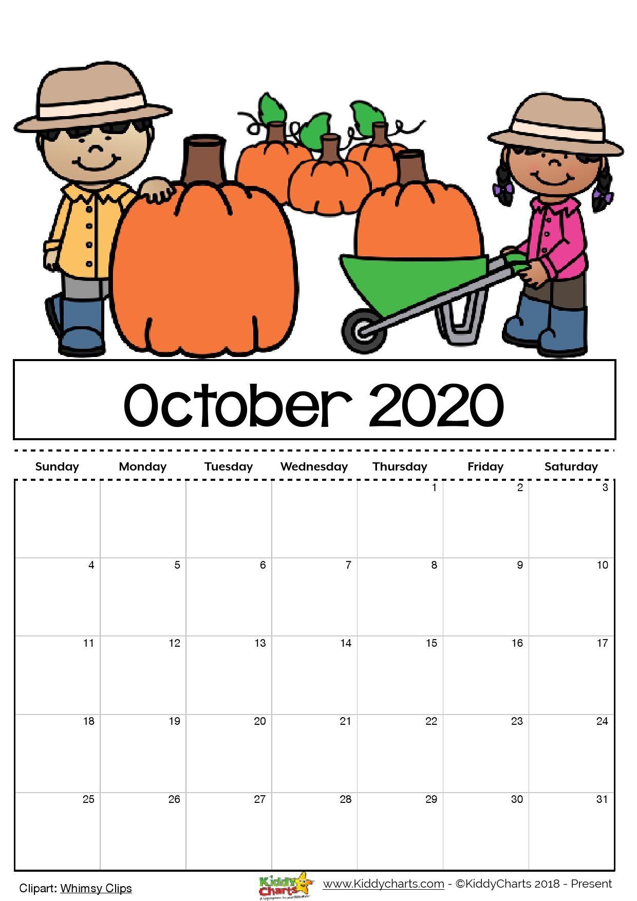 Printable and Editable Calendar Free Printable 2020 Calendar for Kids Including An
