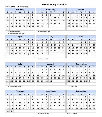 Printable Bi Weekly Calendar 13 Printable Weekly Calendar Templates – Free Sample