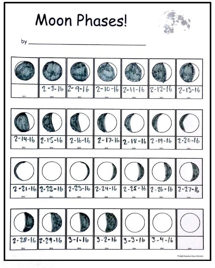 FREE Moon Phase Tracking Printable