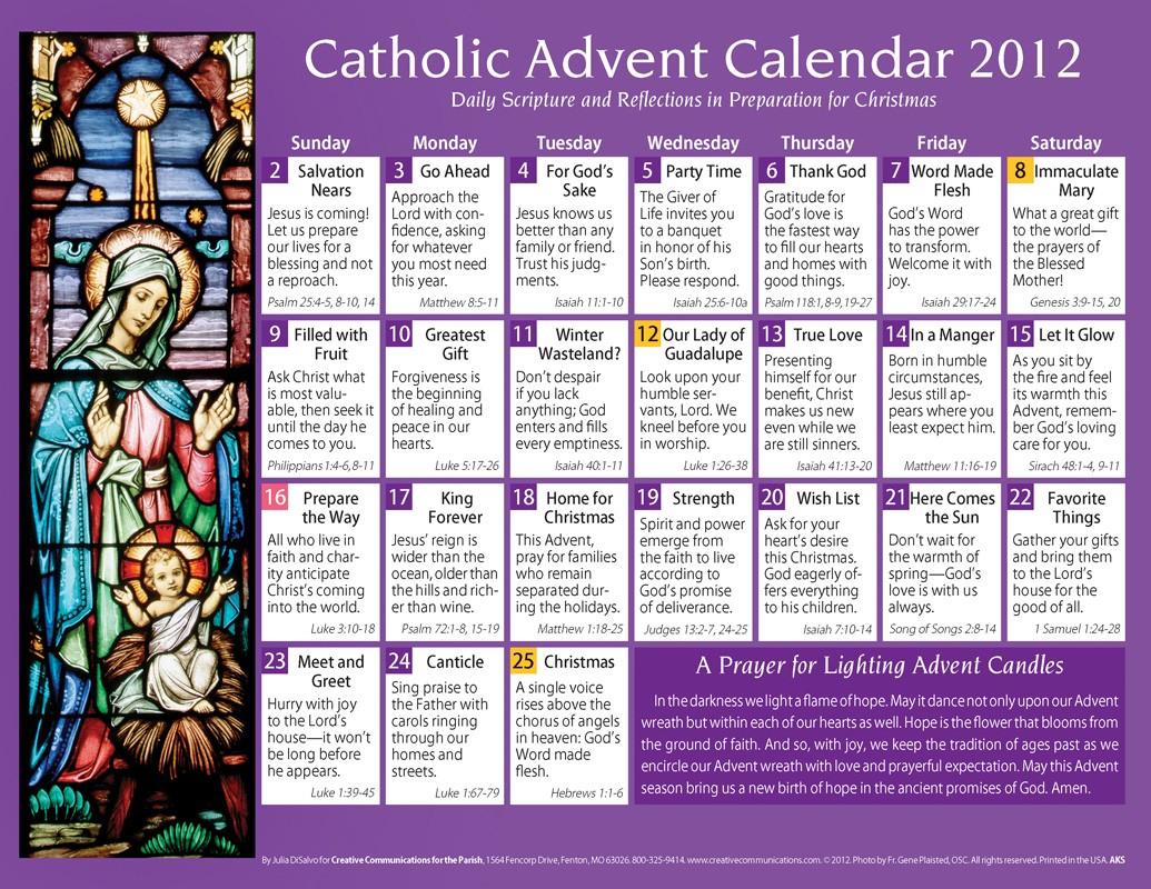 Articles For Heart Mind Soul Catholic Advent Calendar 2012