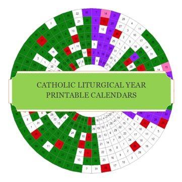 Catholic Liturgical Year Printable Calendars FREE