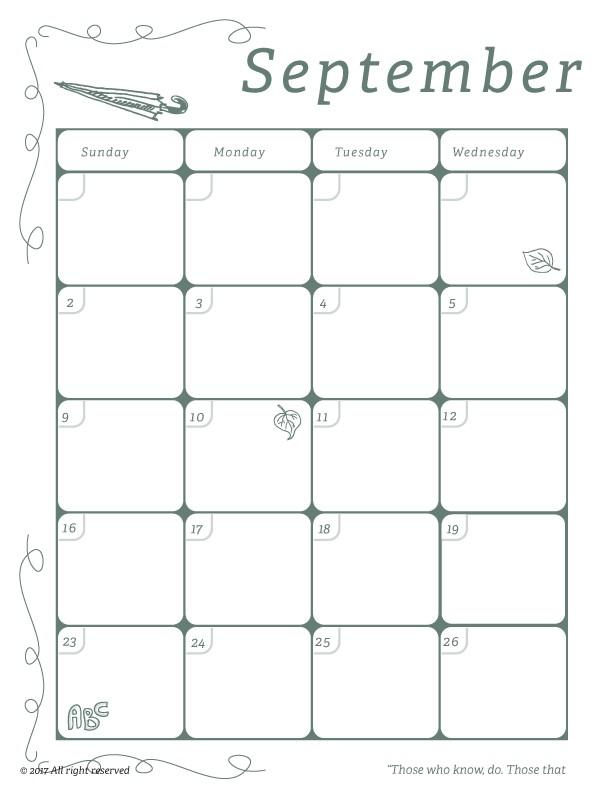 Teachers Printable Calendar Classroom Calendar for Teachers