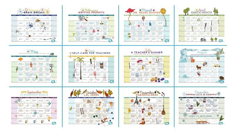 Free Printable 2019 Teacher Calendar WeAreTeachers