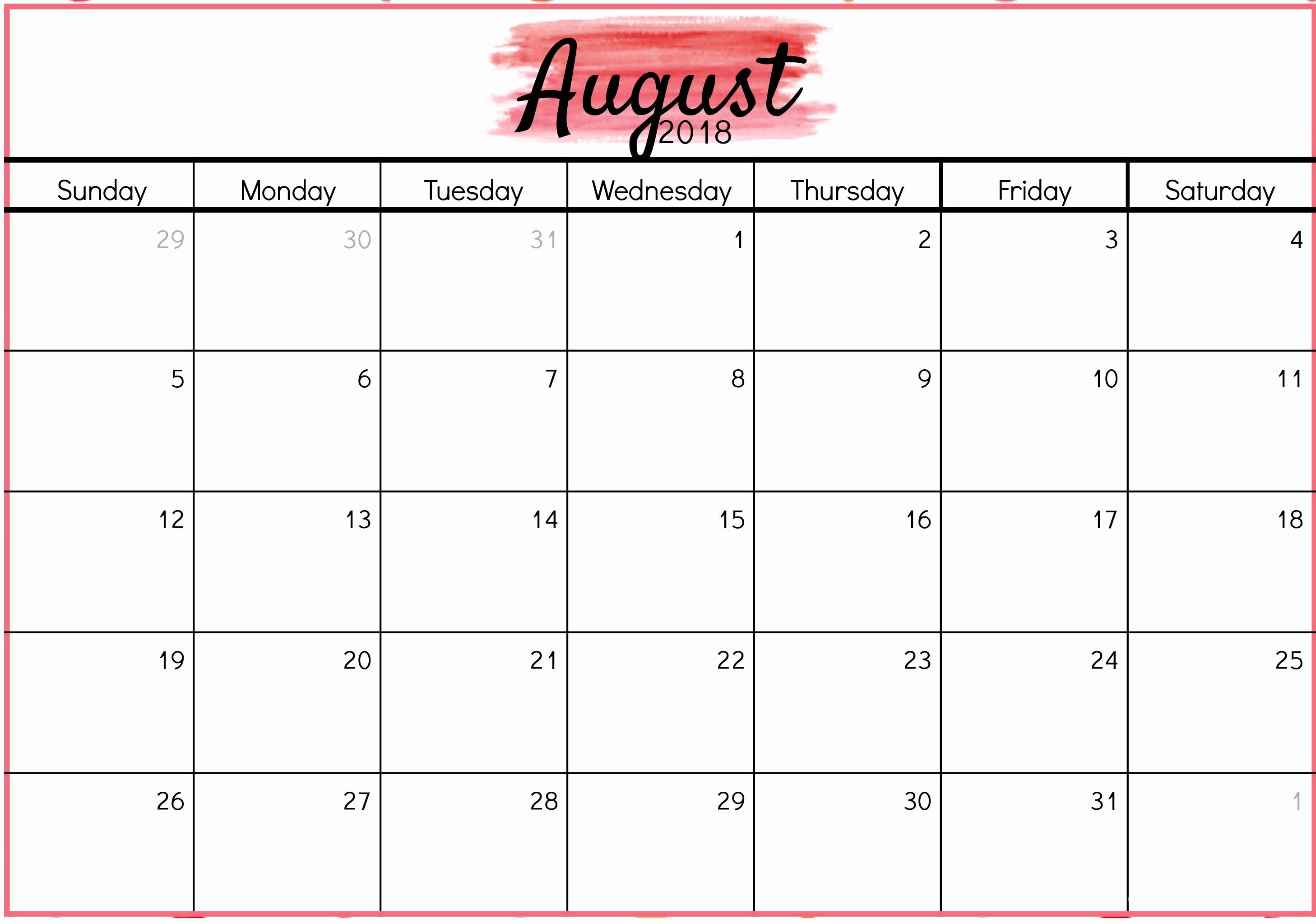 Waterproof Printable Calendar Waterproof Calendars 2018