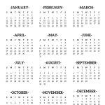 2020 Calendar Printable One Page Calendar 2020 Printable E Page Paper Trail Design