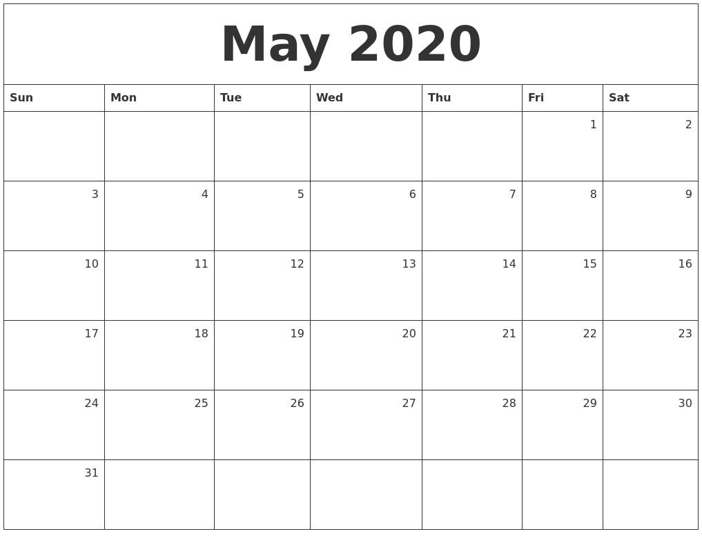 2020 Printable Monthly Calendar February 2020 Calendar Template