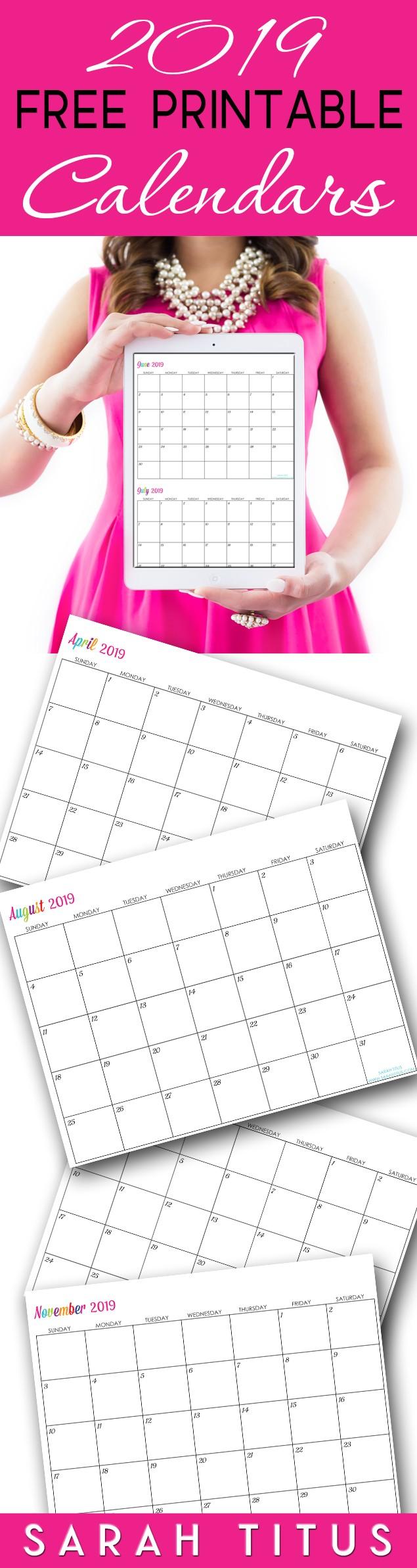 Custom Printable Calendar