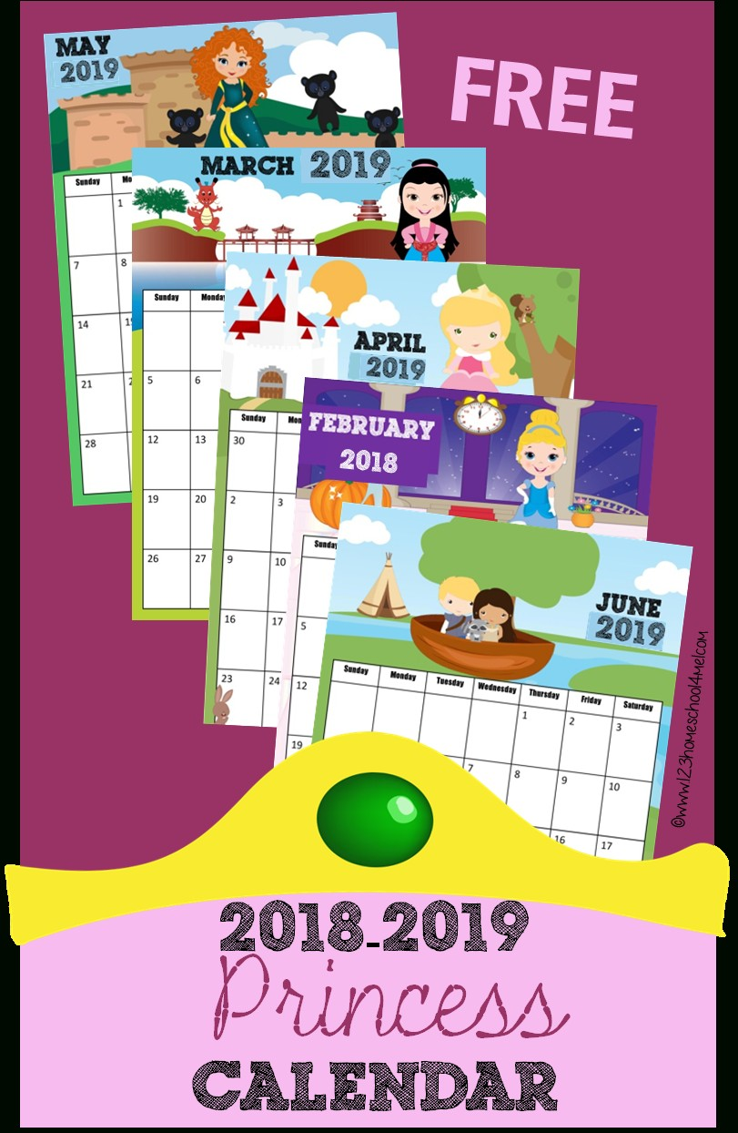 Printable Calendar 2018 Disney