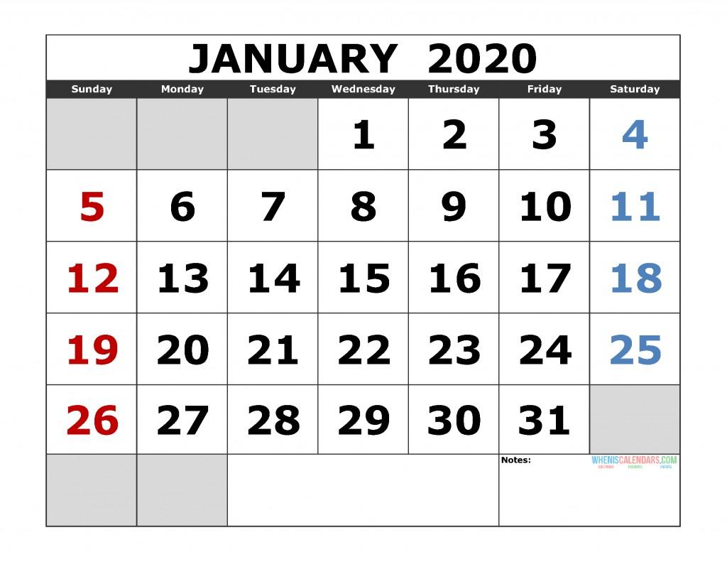 Free 2020 Monthly Calendar Printable Free Printable Monthly Calendar 2020 Excel Pdf Image [us