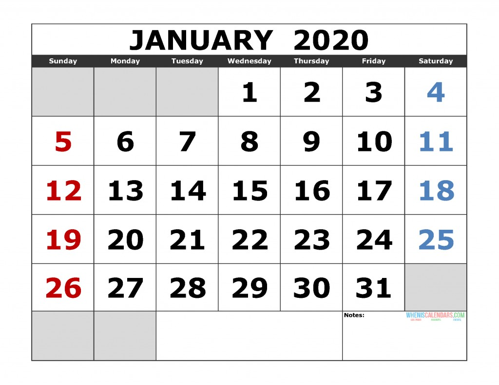 Free Printable 2020 Monthly Calendar with Holidays Free Printable Monthly Calendar 2020 Excel Pdf Image [us