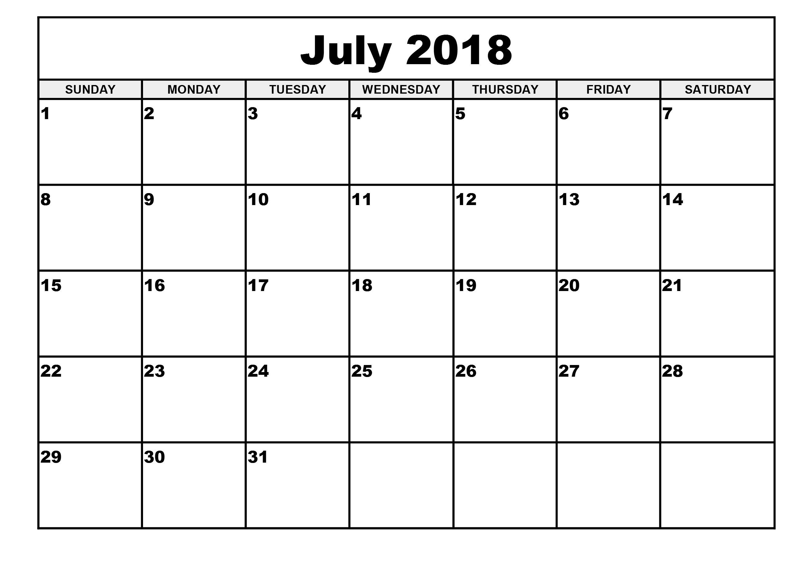 Free Printable Calendars Com Free Printable Calendar 2018 Template