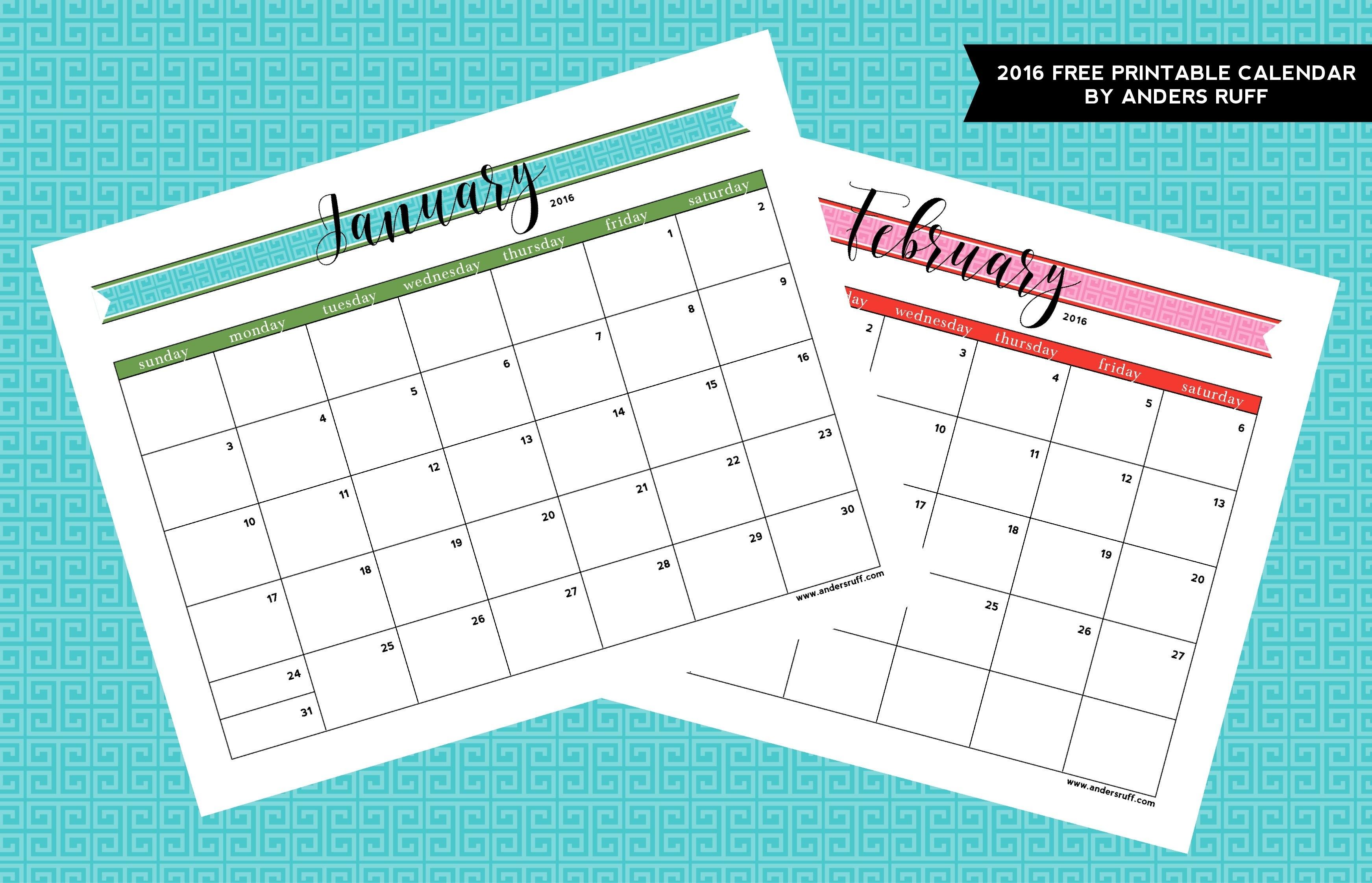 Free Printable Customizable Calendar Free Customizable Printable Calendar
