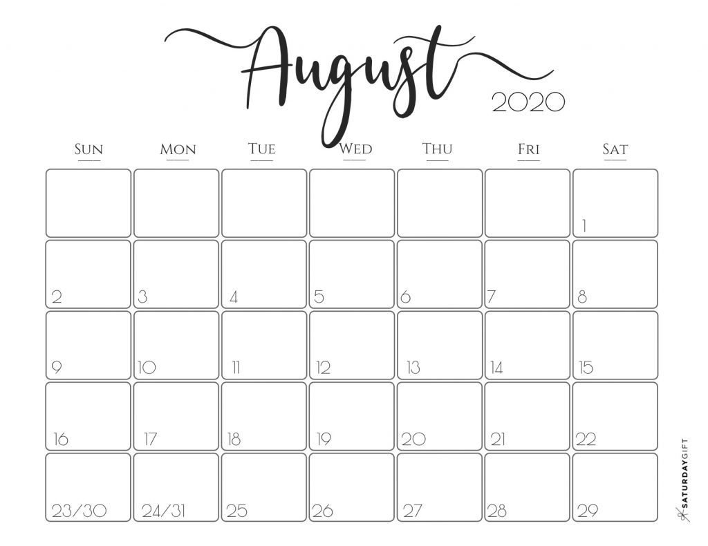 Free Printable Monthly Calendar 2020 Elegant 2020 Calendar Free Printables