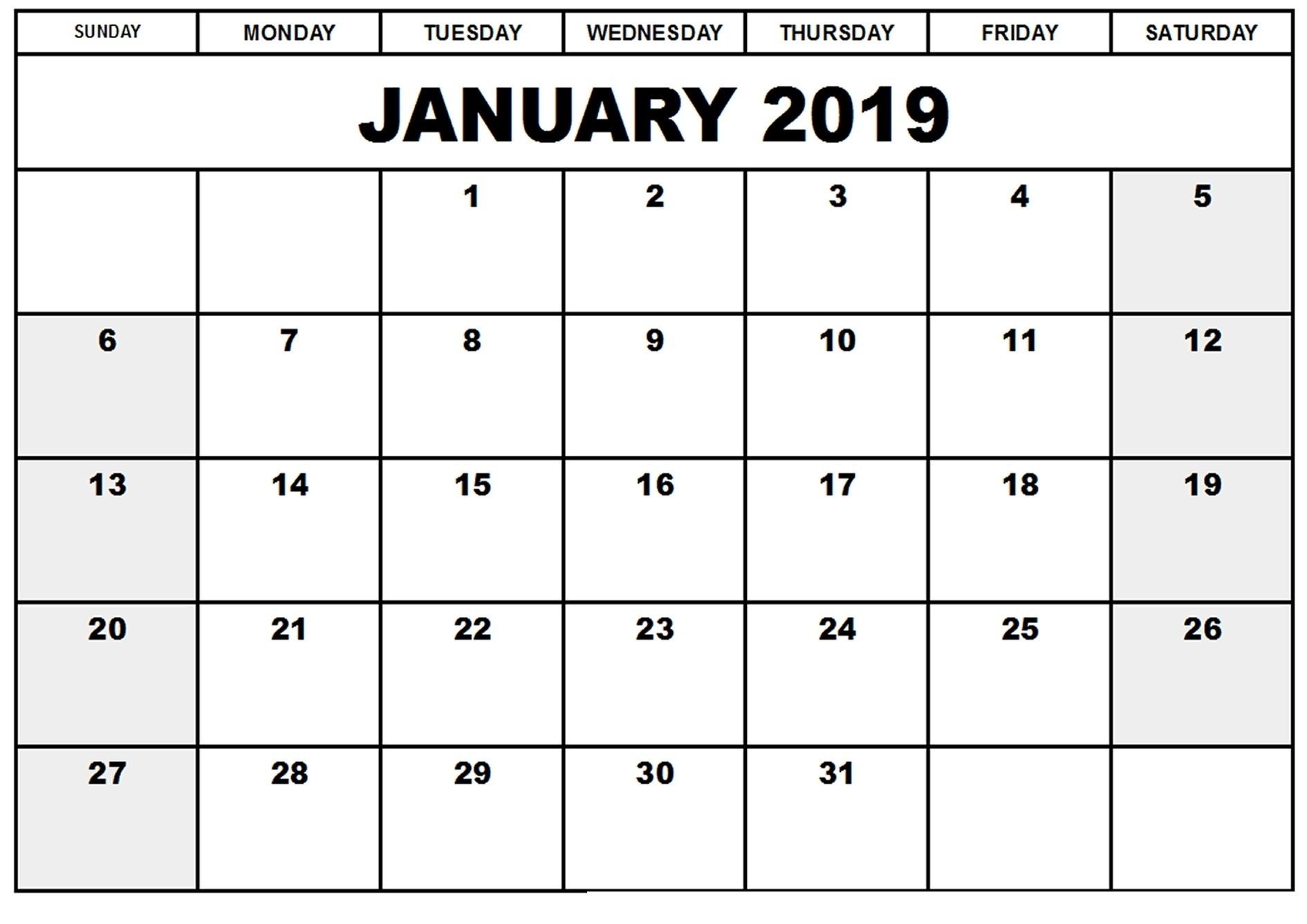 Full Page Printable Calendar