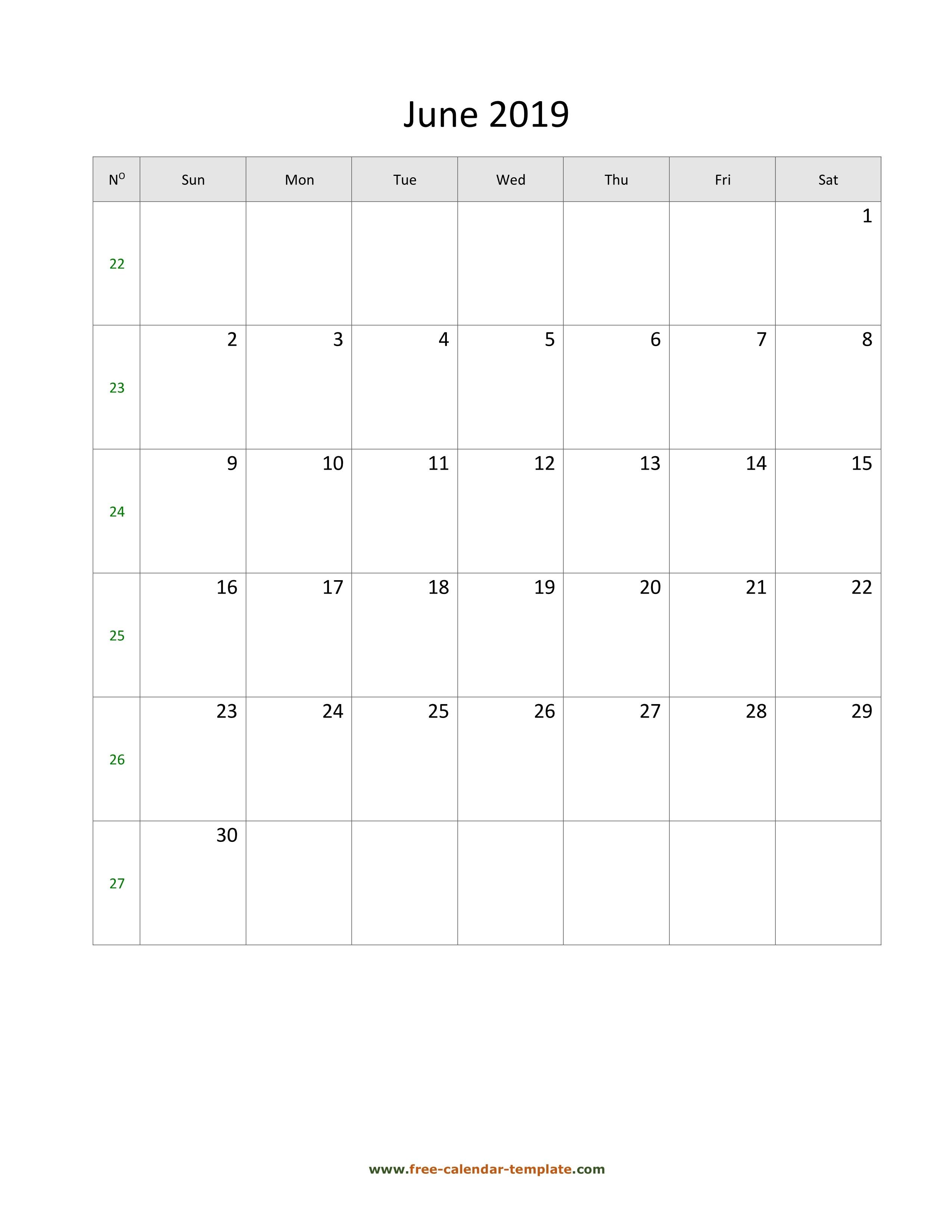 June 2020 Calendar Printable June 2019 Free Calendar Tempplate