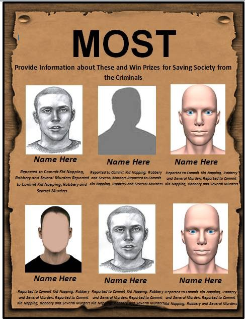 Most Wanted Posters Templates 29 Free Wanted Poster Templates Fbi and Old West