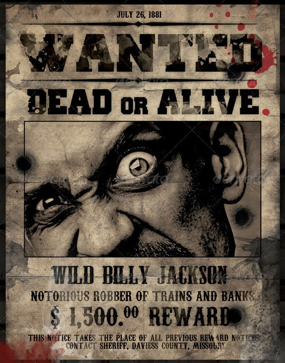 FREE 19 Free Wanted Poster Templates in PSD PDF