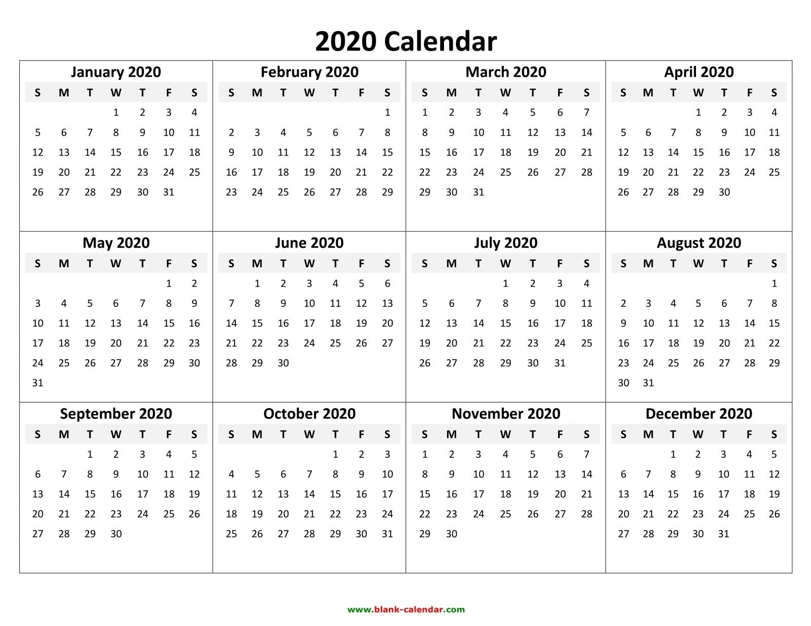 Perky 2020 Calendar With Holidays By Vertex42