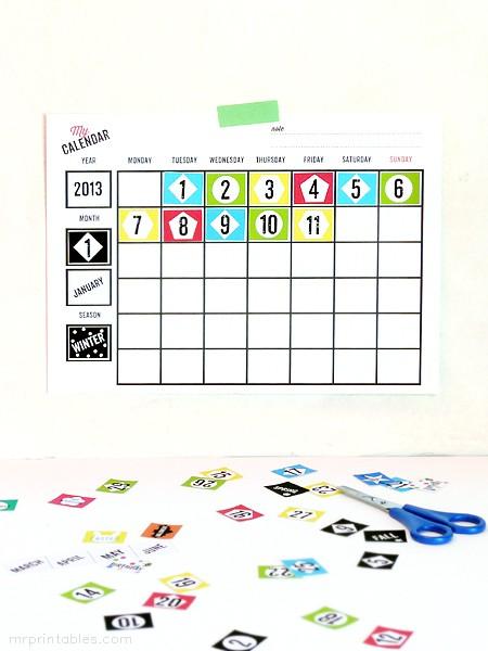 Printable Childrens Calendar Printable Blank Calendars Mr Printables