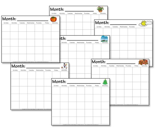 Kindergarten Calendar Worksheets Confessions of a