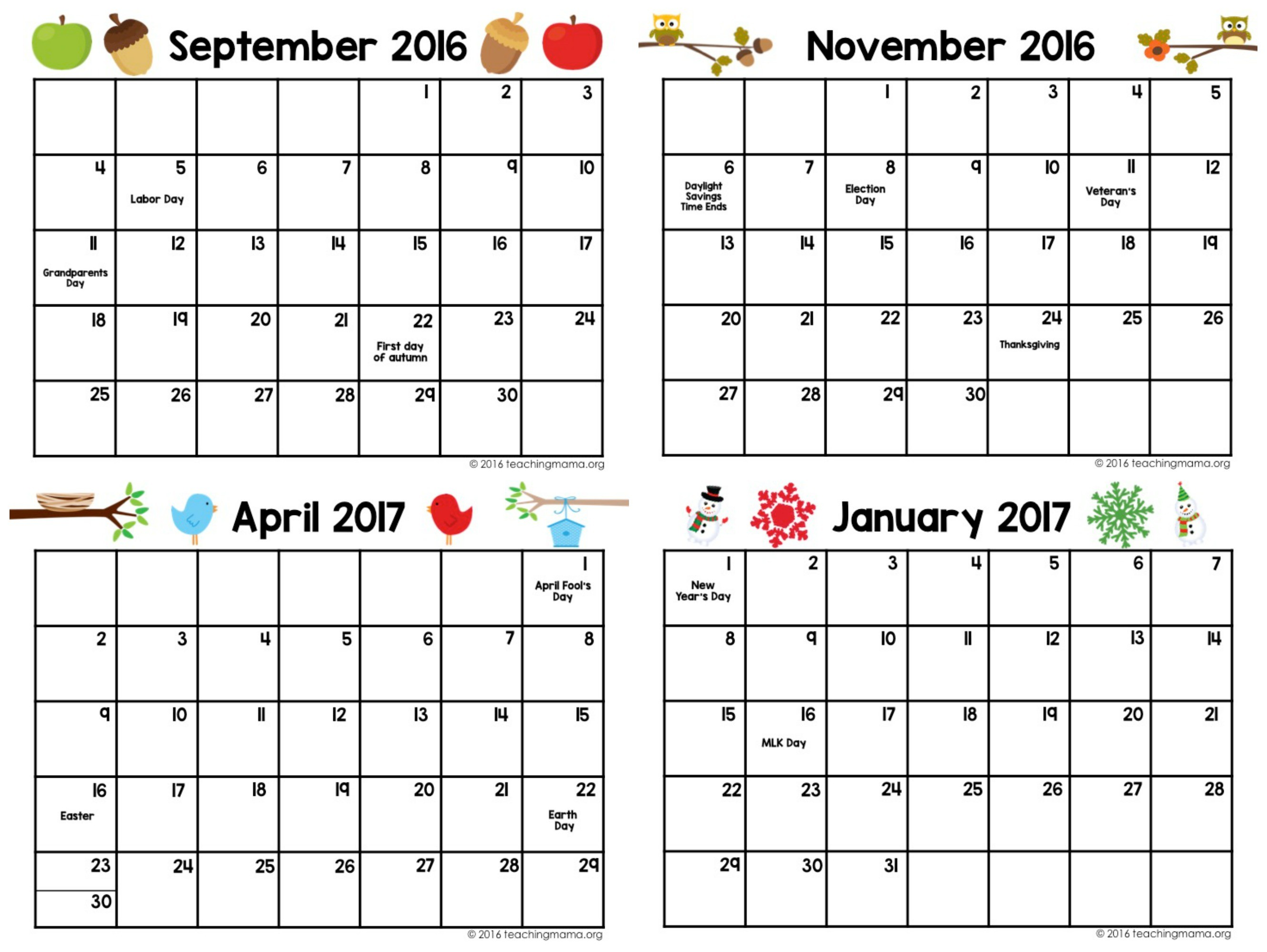 Printable Preschool Calendars Printable Calendar Preschool