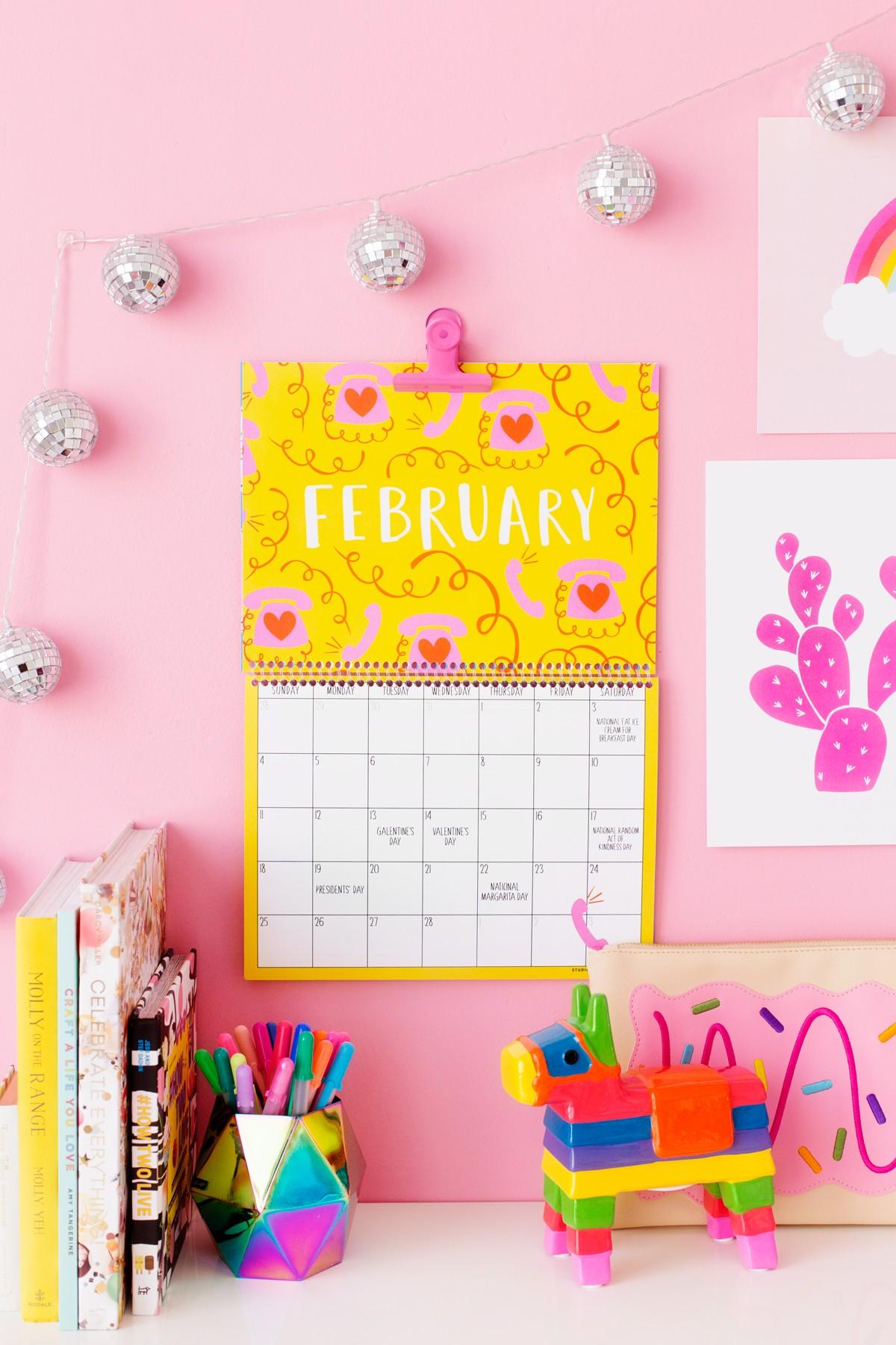 2018 Free Printable Wall Calendar Studio DIY