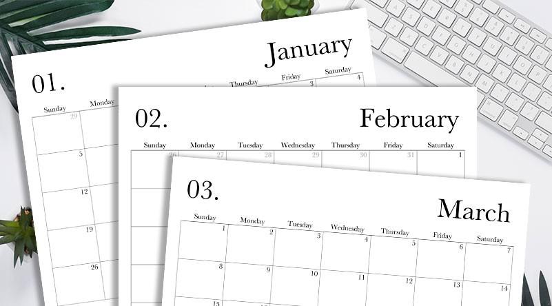 2020 12 Month Calendar Printable 2020 Calendar Free Printable Monthly Template Lovely Planner