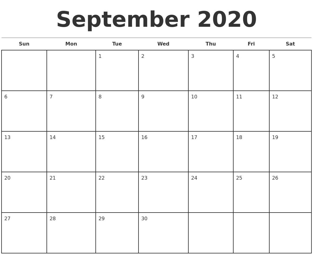 2020 Monthly Calendar Printables May 2020 Free Calendar Template