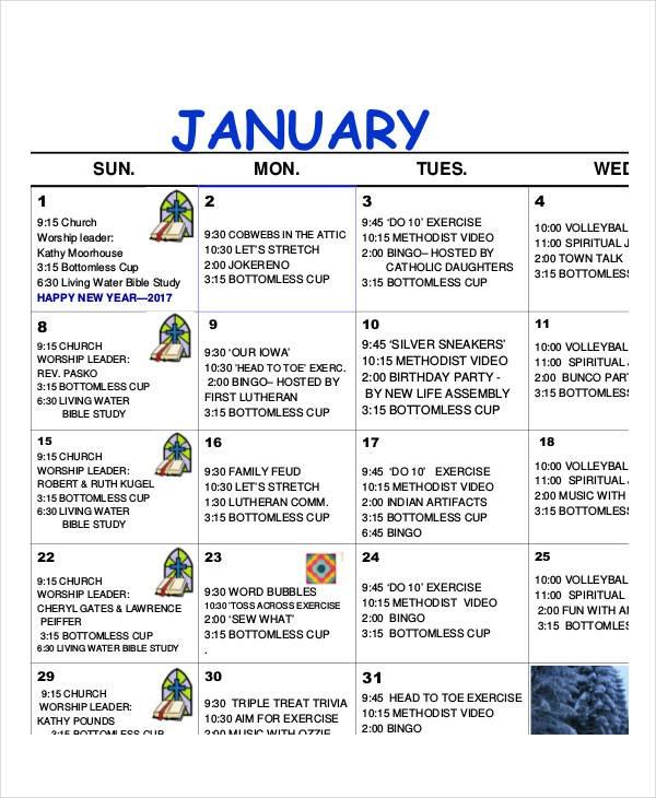 Activity Calendar Template Activity Calendar Template 12 Free Pdf Docs Word