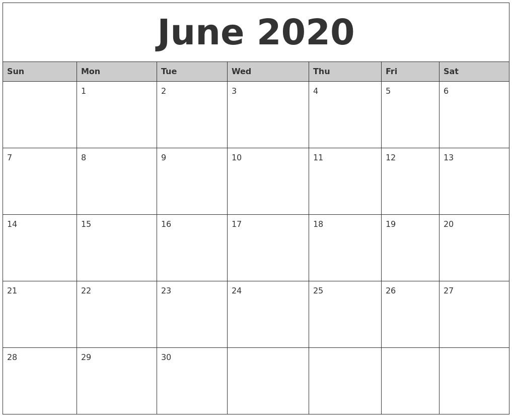 Calendar 2020 Printable by Month February 2020 Printable Calender