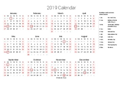Calendar 2020 with Holidays Printable Printable 2020 Calendars Pdf Calendar 12