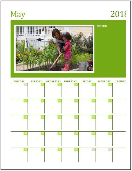 Family Calendar Templates for MS Excel