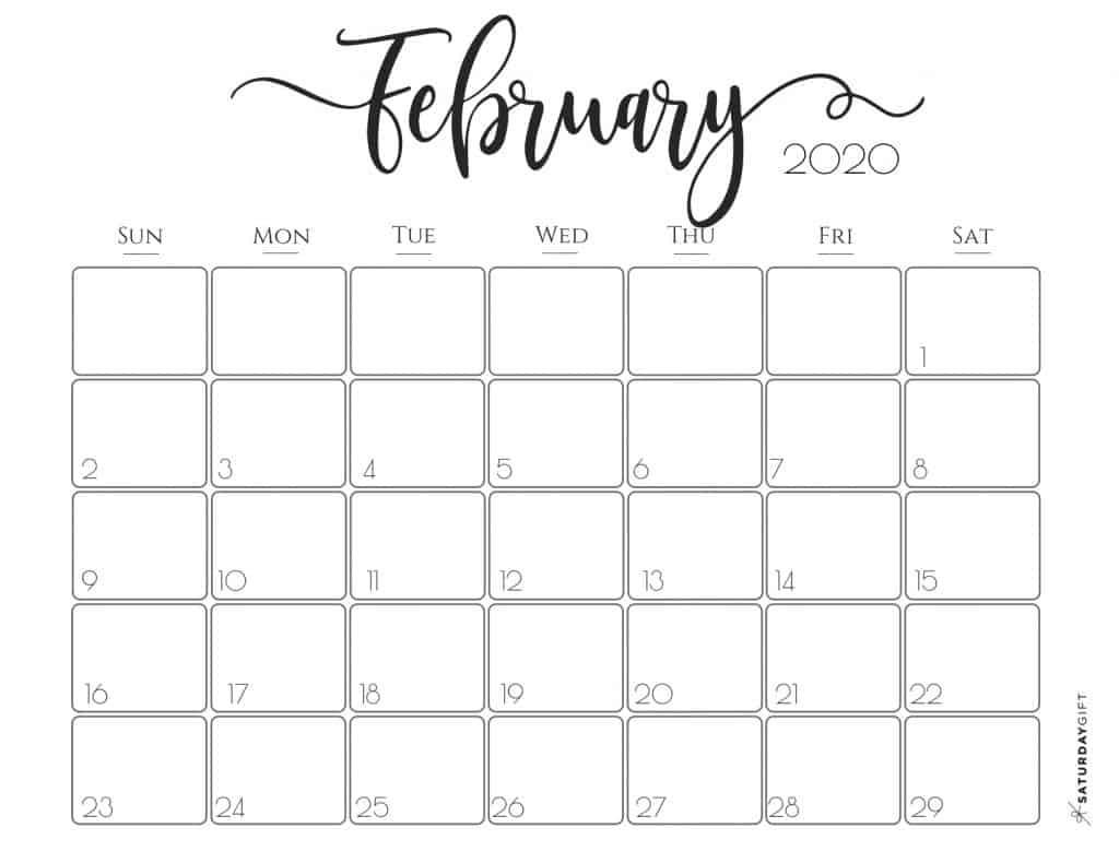 February 2020 Printable Calendar Free Elegant 2020 Calendar Free Printables