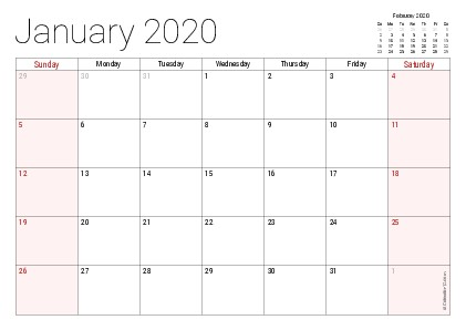 Free Printable Monthly Calendar 2020 with Holidays Printable 2020 Calendars Pdf Calendar 12