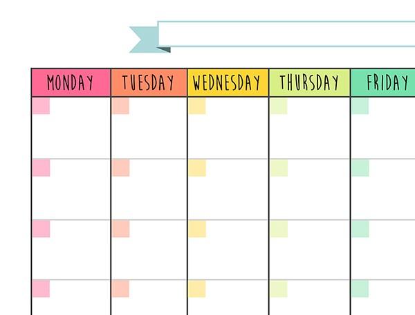Calendar Monthly Planner Free Printable on Behance
